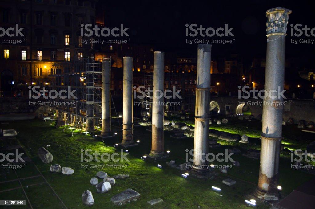 Ruins of Trajan's market stock photo