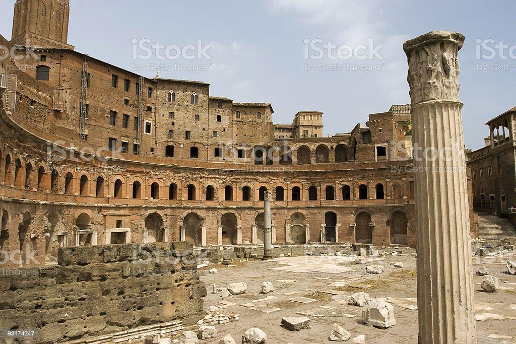 Ruins of Trajan's Market royalty-free stock photo