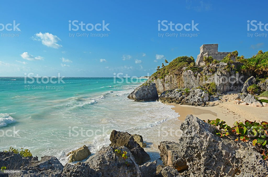 Ruins of Tulum stock photo