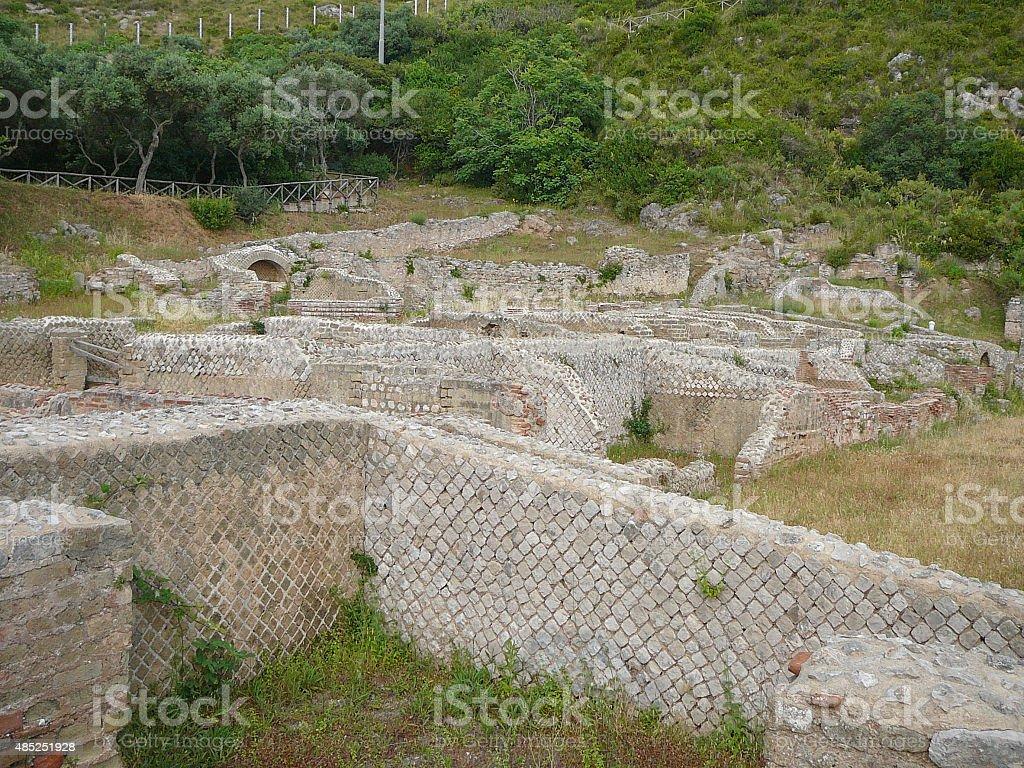 Ruins of Villa Tiberio in Sperlonga stock photo