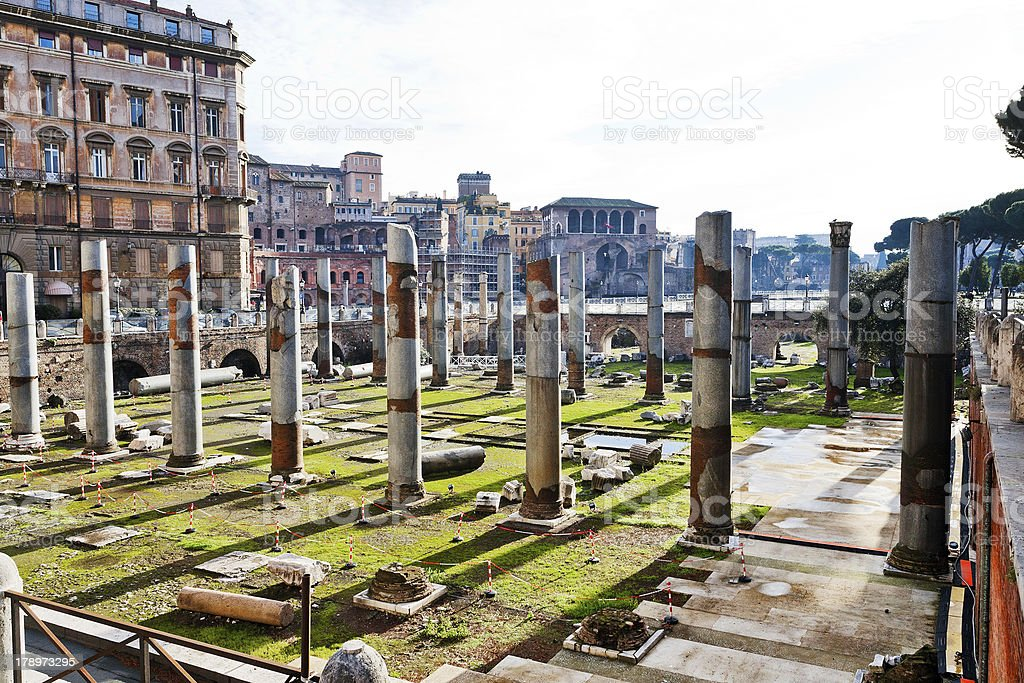 ruins on Capitoline Hill in Rome royalty-free stock photo