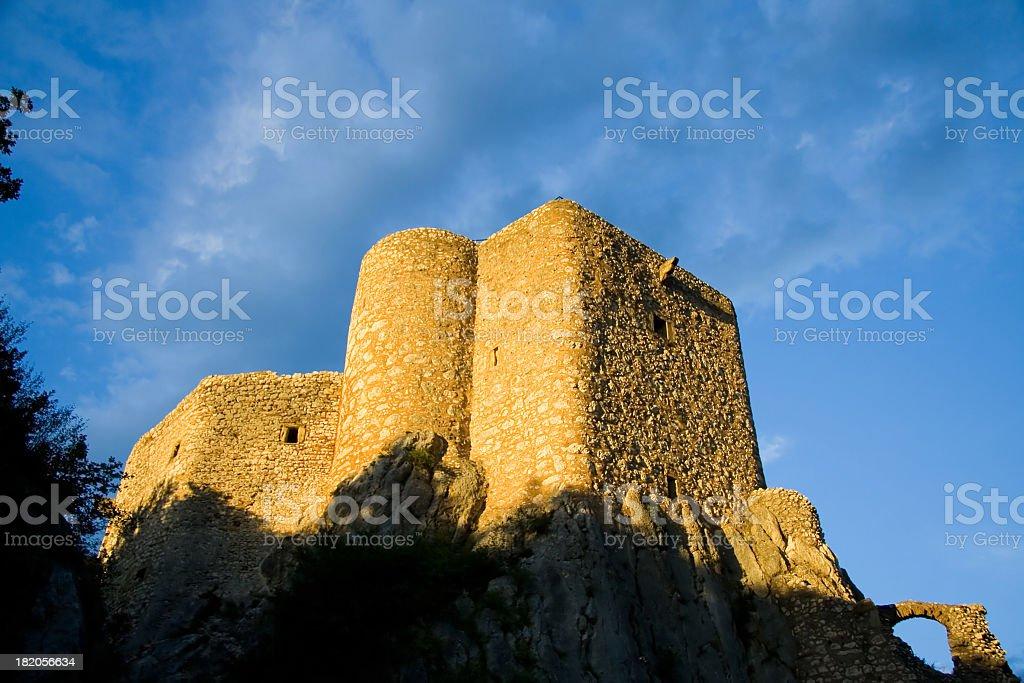 Ruins on Rock stock photo