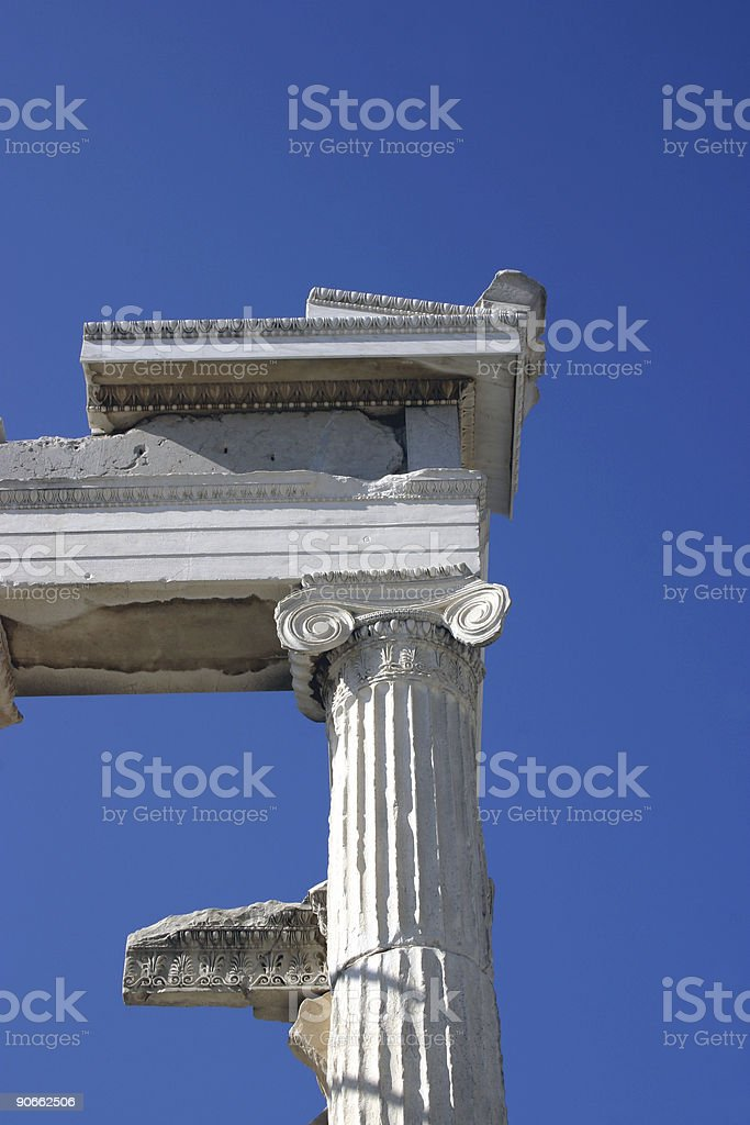 Ruins on sky royalty-free stock photo