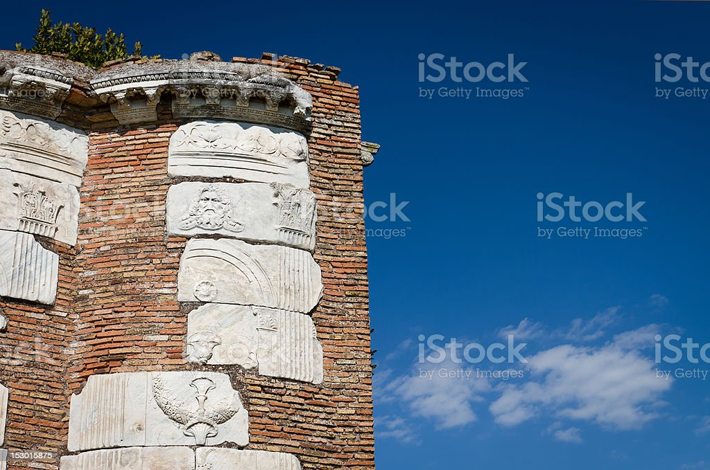Ruins on The Appian way in Rome stock photo