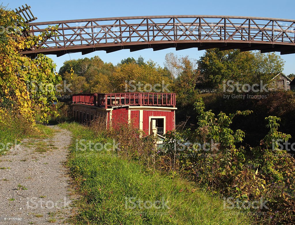 ruins on the Erie Canal stock photo