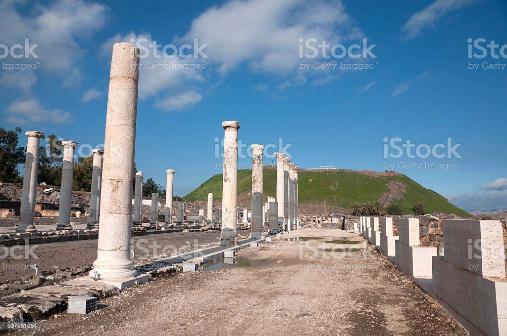 Ruins site stock photo