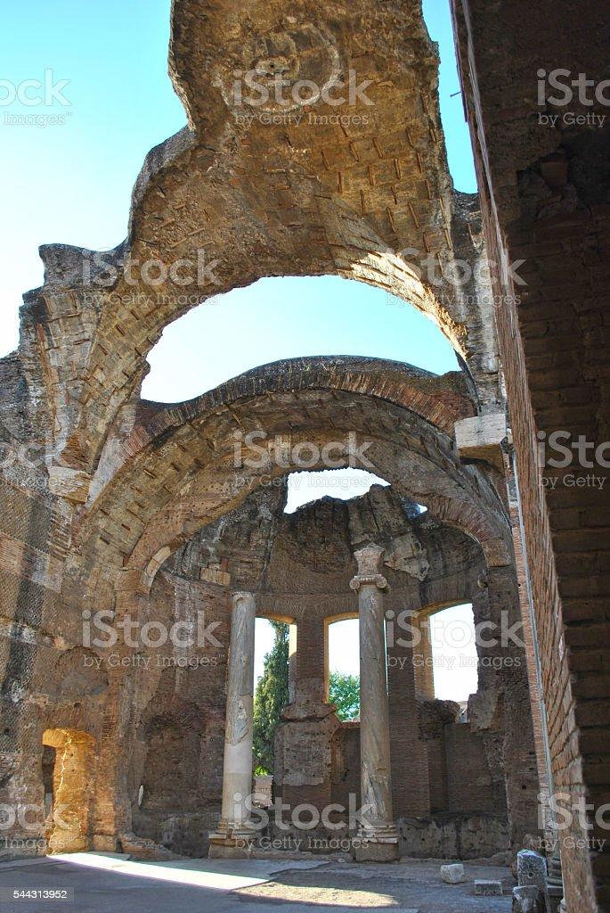 Ruins Villa Adriana stock photo