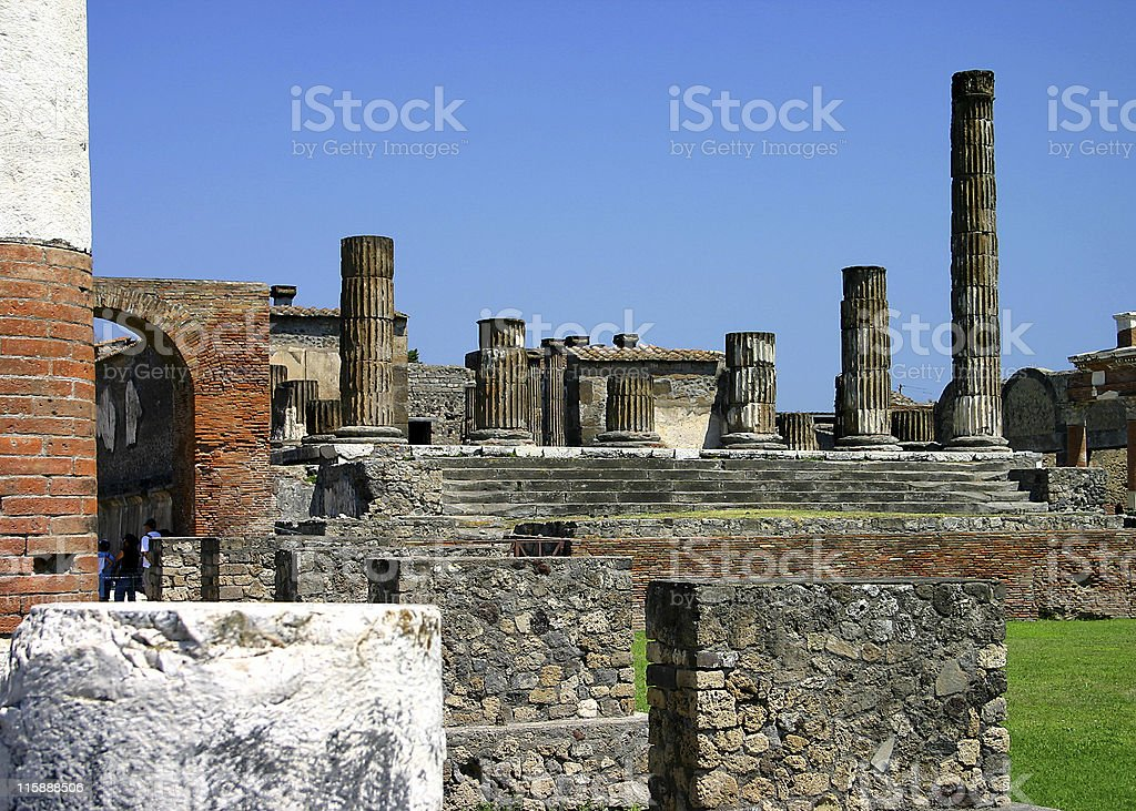 Ruins with multiple columns royalty-free stock photo