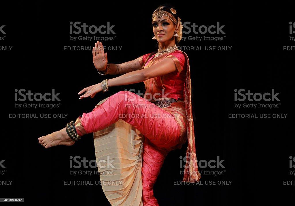 Rukmini Vijaykumar - Bharatanatyam stock photo