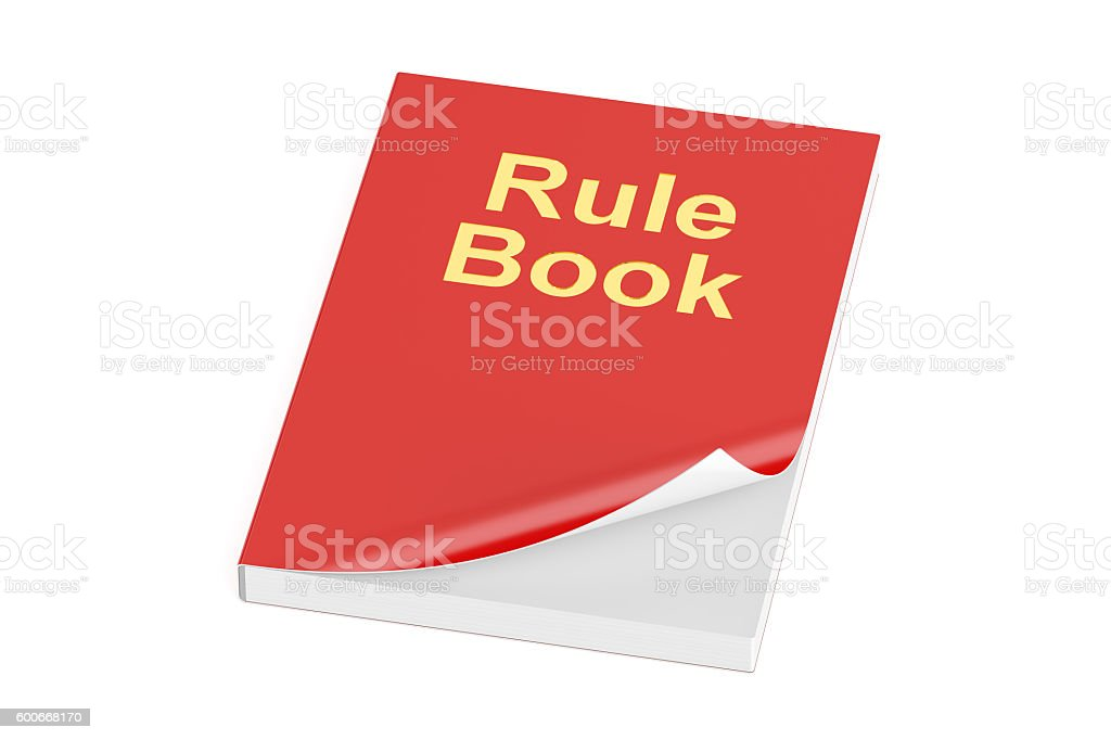 Rule book, 3D rendering stock photo
