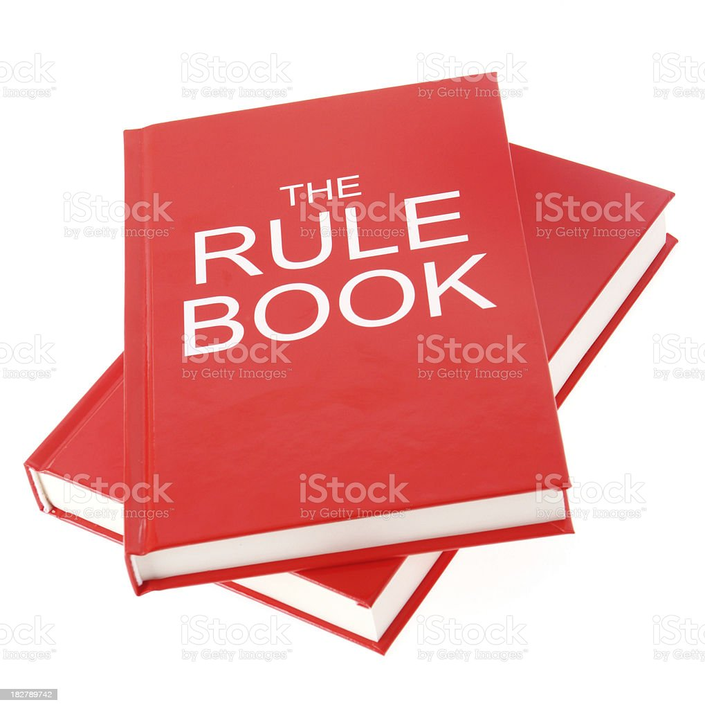 Rule Book royalty-free stock photo
