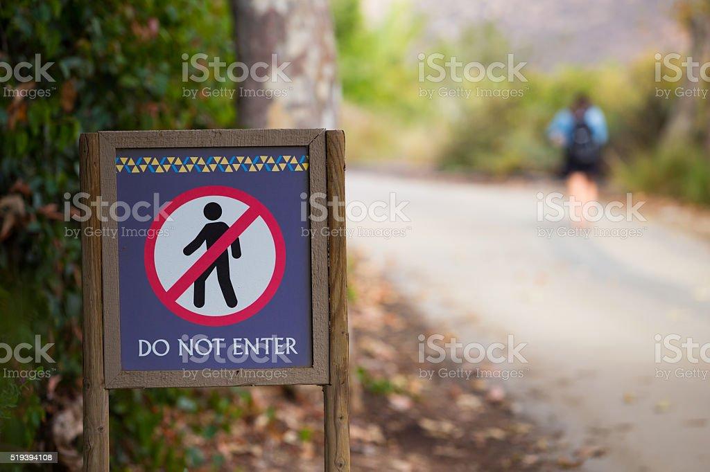 Rule Breaker Do Not Enter Sign stock photo