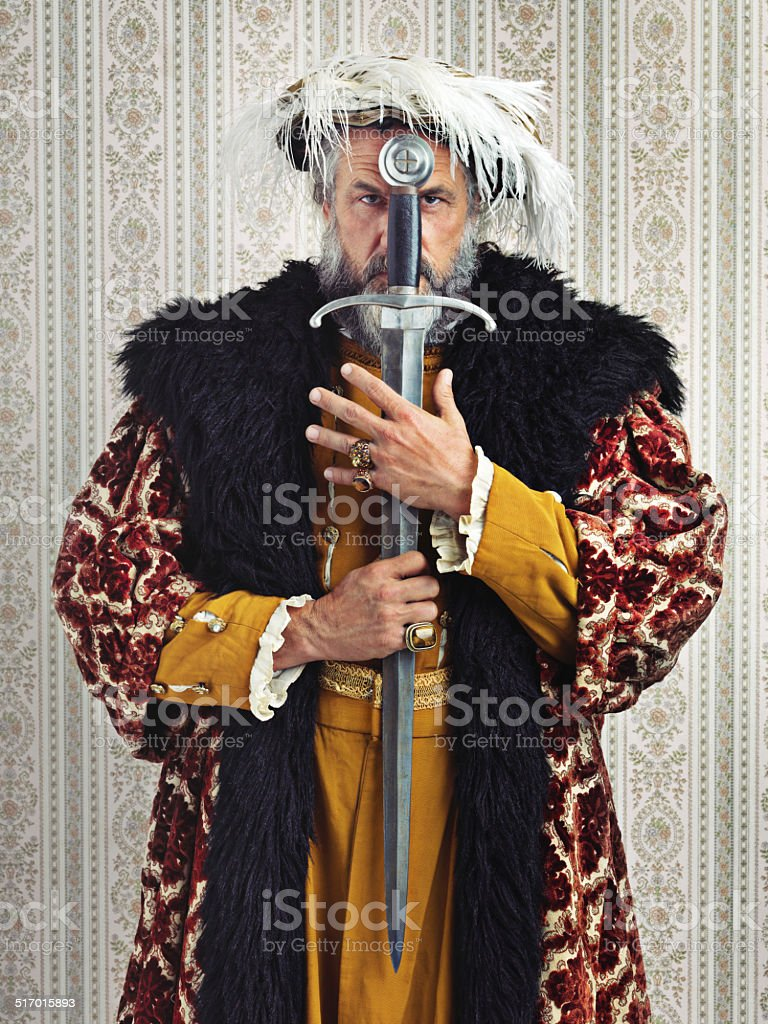 I rule by the sword stock photo