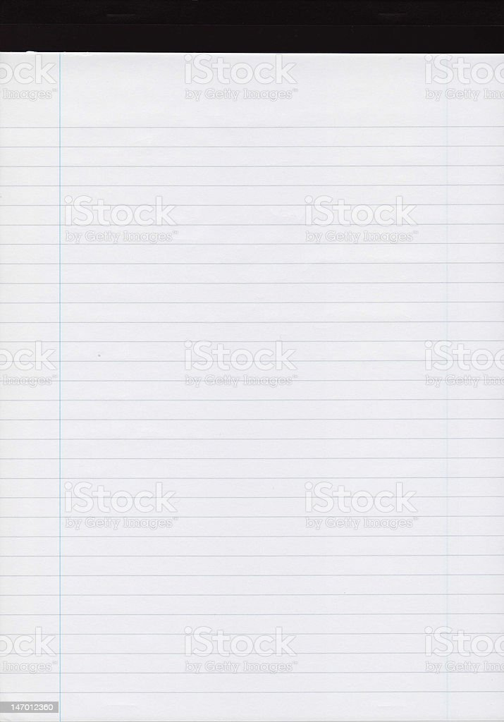 A4 ruled blank pad with black top royalty-free stock photo