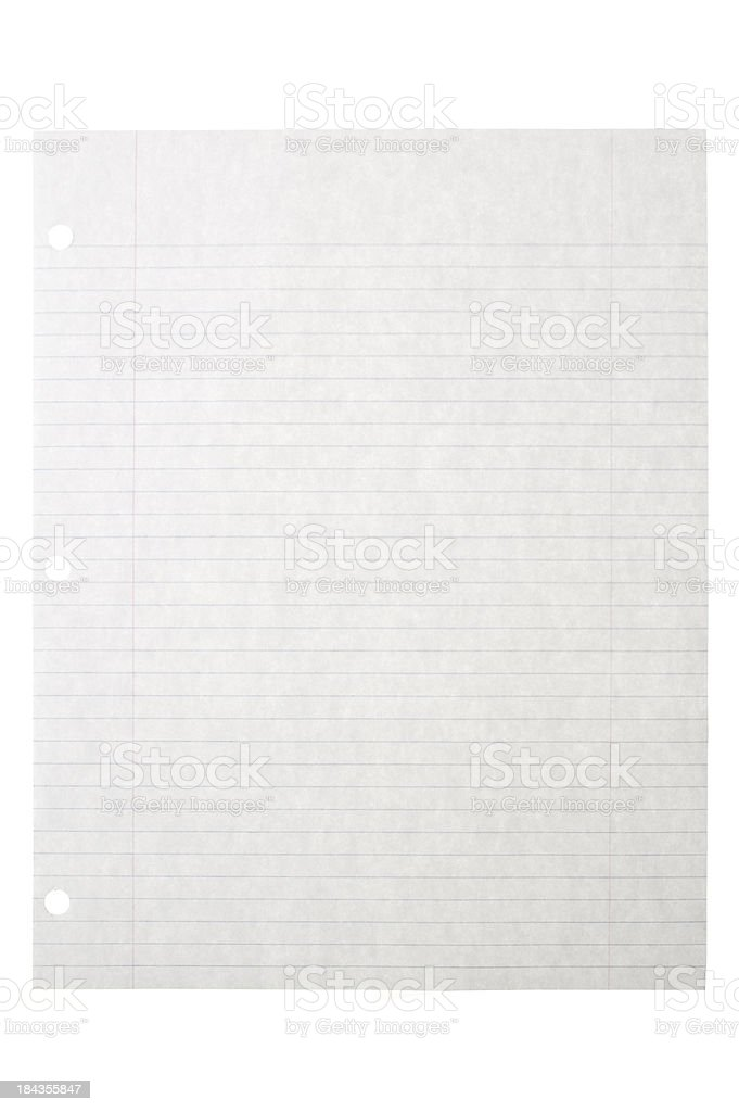 Ruled Paper stock photo