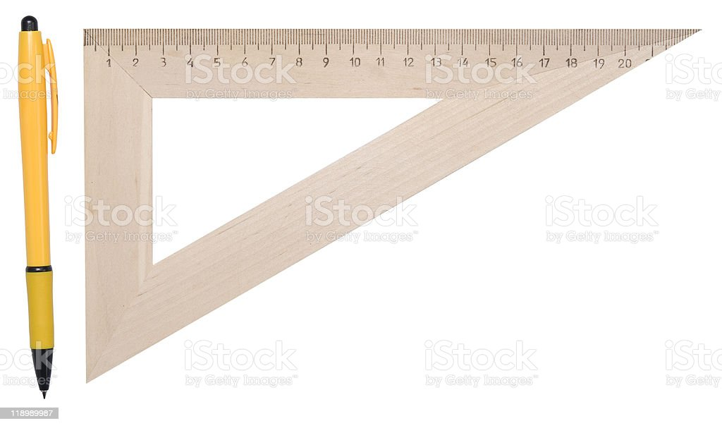 ruler and pen royalty-free stock photo