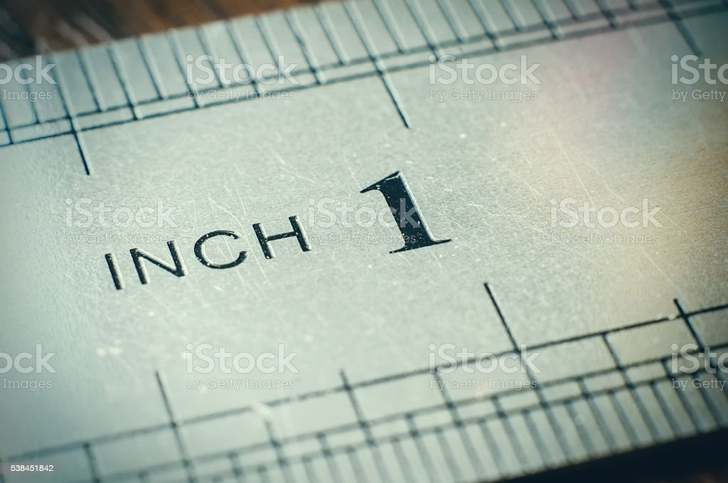 ruler macro stock photo