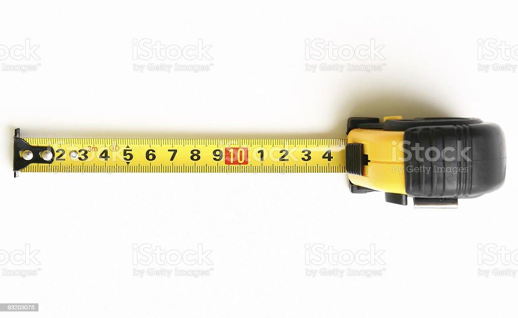 Ruler tape stock photo