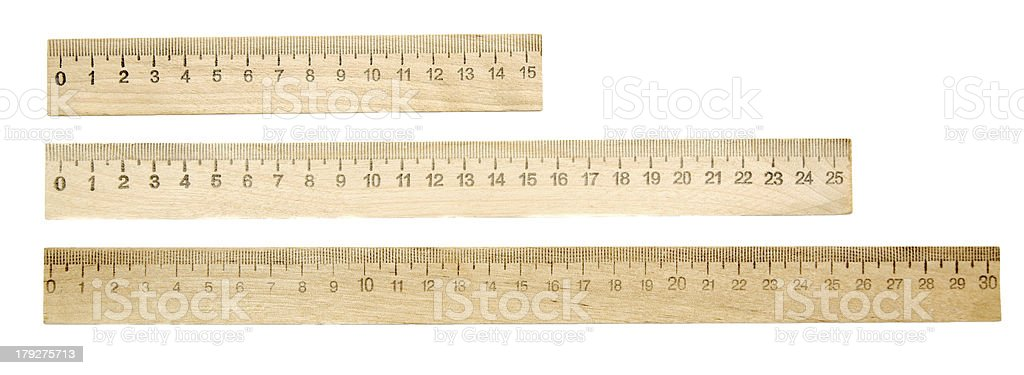 Rulers on a white background. stock photo
