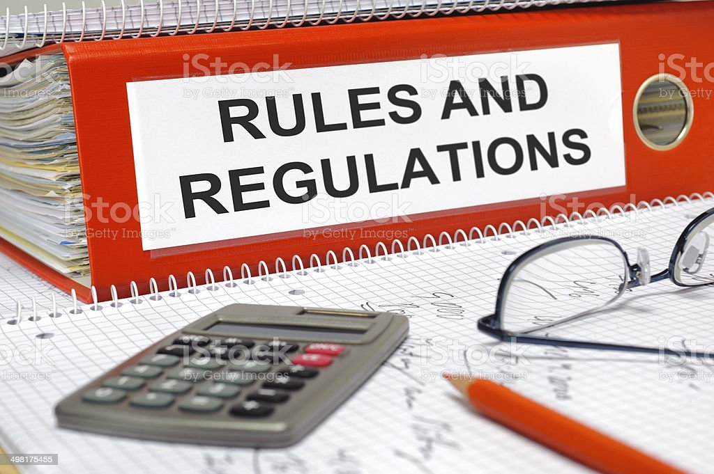 rules and regulations stock photo