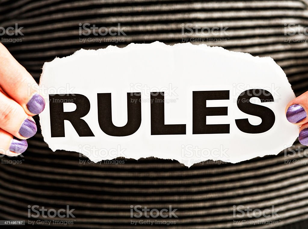 Rules - everyone needs to know them royalty-free stock photo