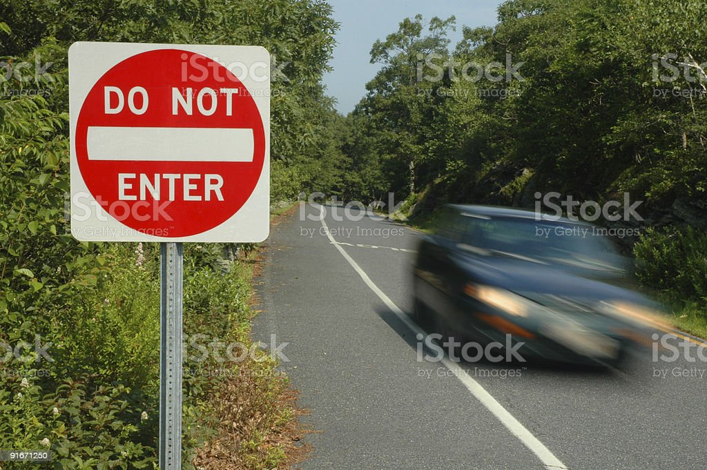 Rules of the Road royalty-free stock photo
