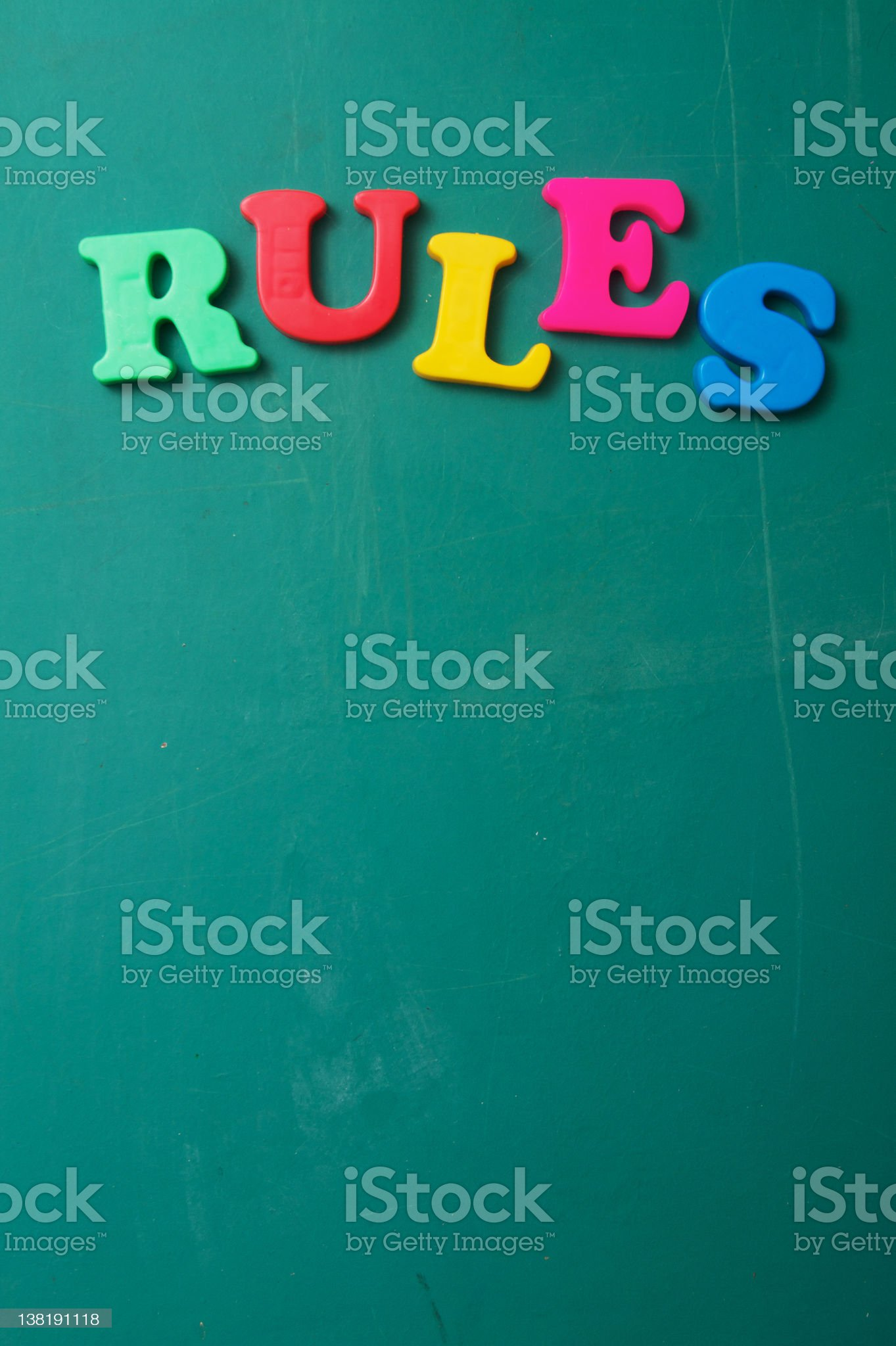 Rules on a Chalkboard royalty-free stock photo