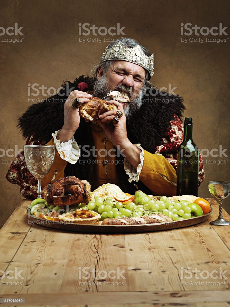 Ruling is hungry business! stock photo