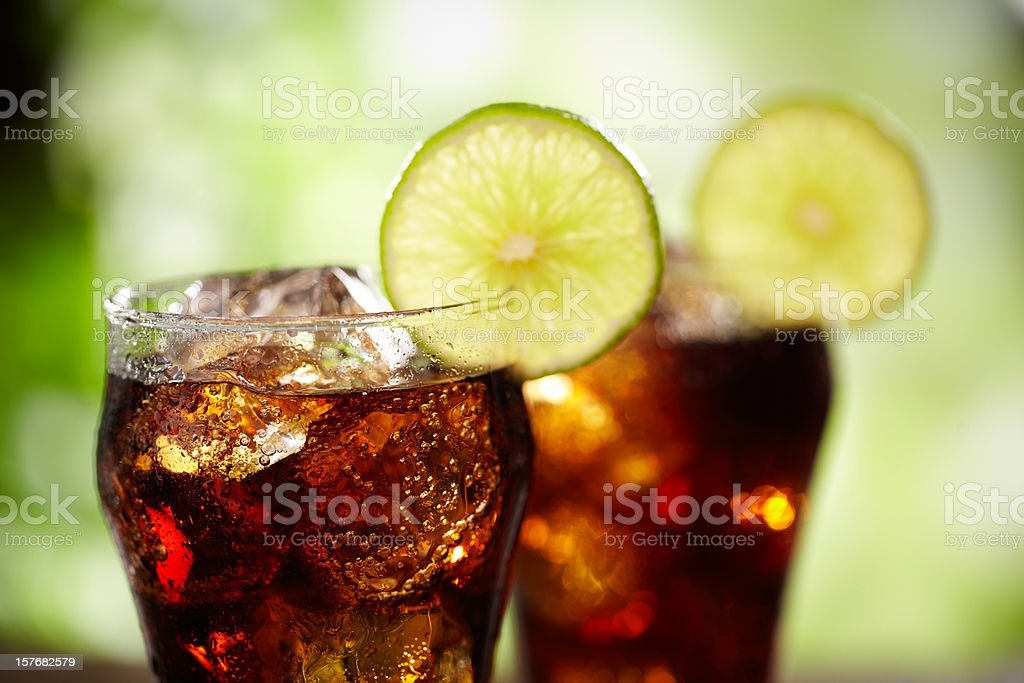 Rum and Cola stock photo