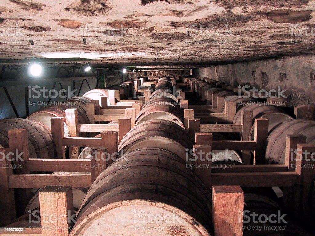 Rum barrels stock photo