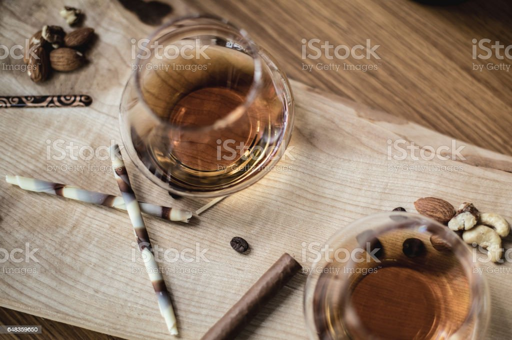 Rum in a Glass stock photo