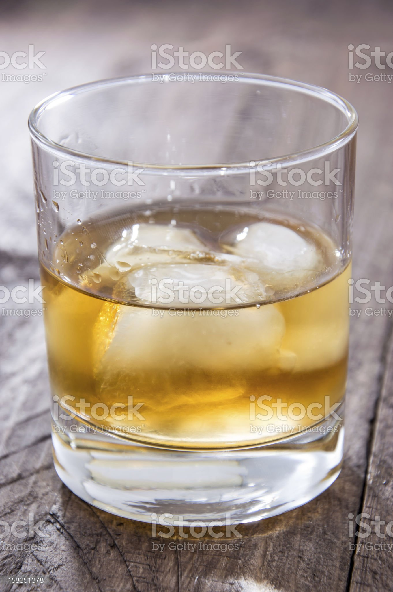 Rum on the rocks royalty-free stock photo