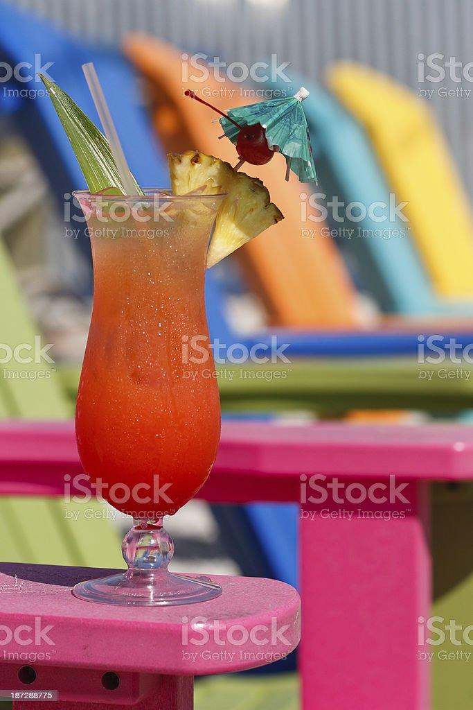 Rum Runner Cocktail stock photo