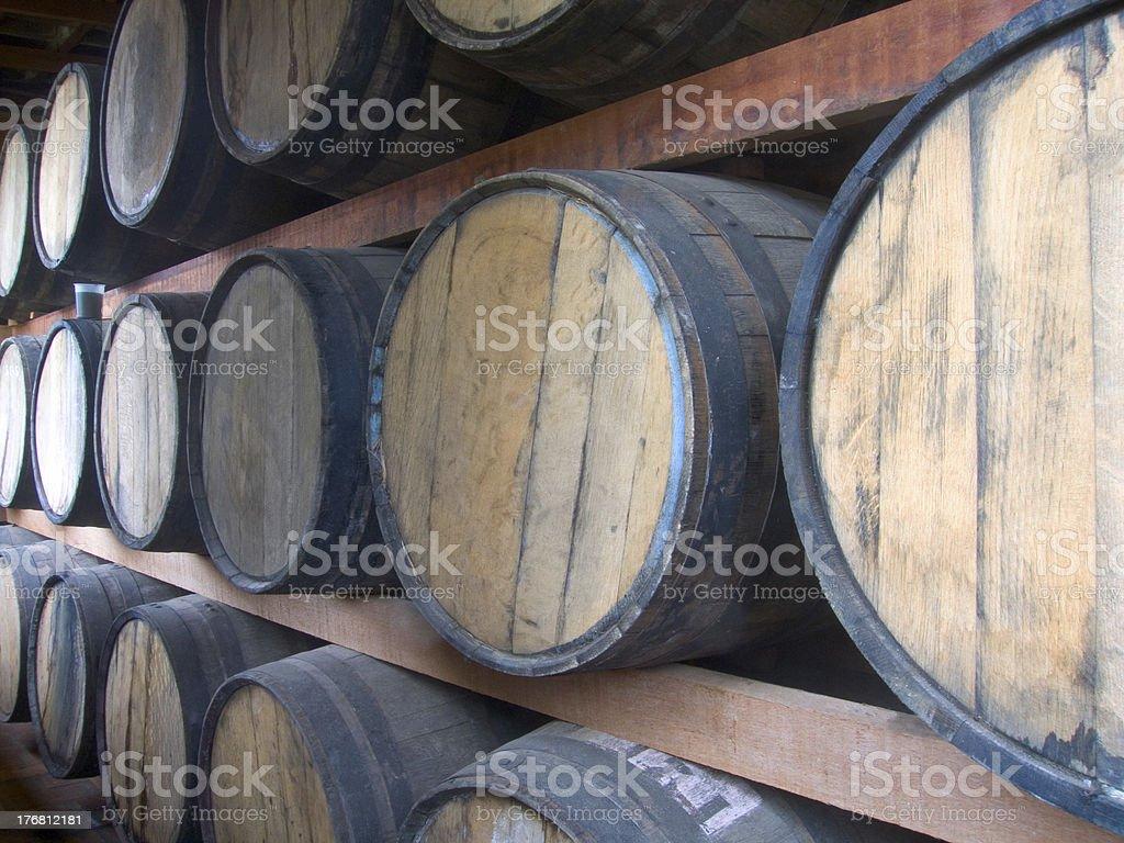 Rum stockpiling royalty-free stock photo