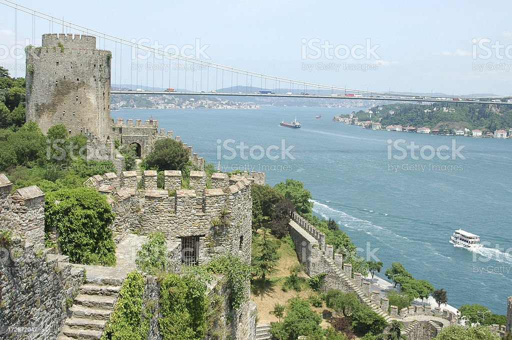 Rumeli Castle in Istanbul royalty-free stock photo