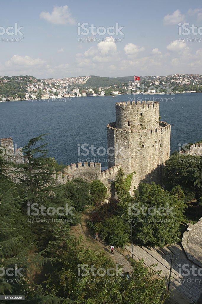 Rumeli Castle, Istanbul, Turkey (vertical) stock photo