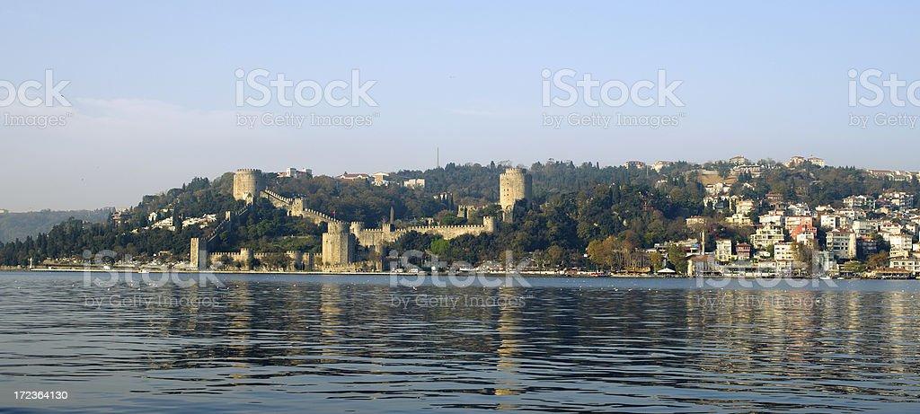 Rumeli Castle Panorama royalty-free stock photo