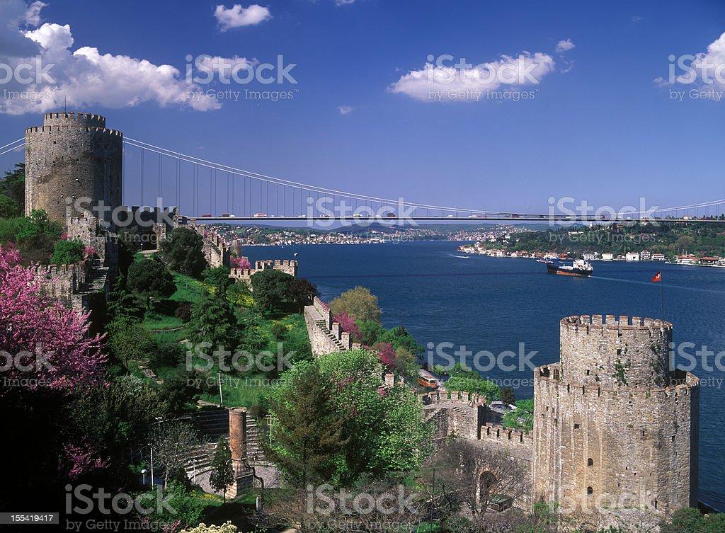 Rumeli Fortress stock photo