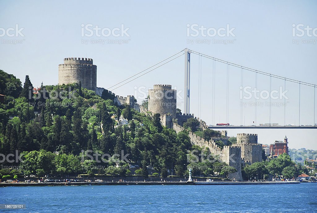 Rumeli Fortress royalty-free stock photo