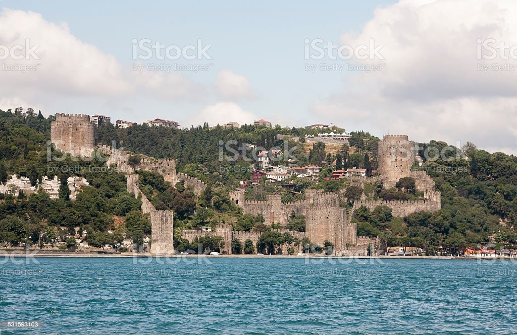 Rumeli Hisari Fortress in Istanbul, Turkey stock photo