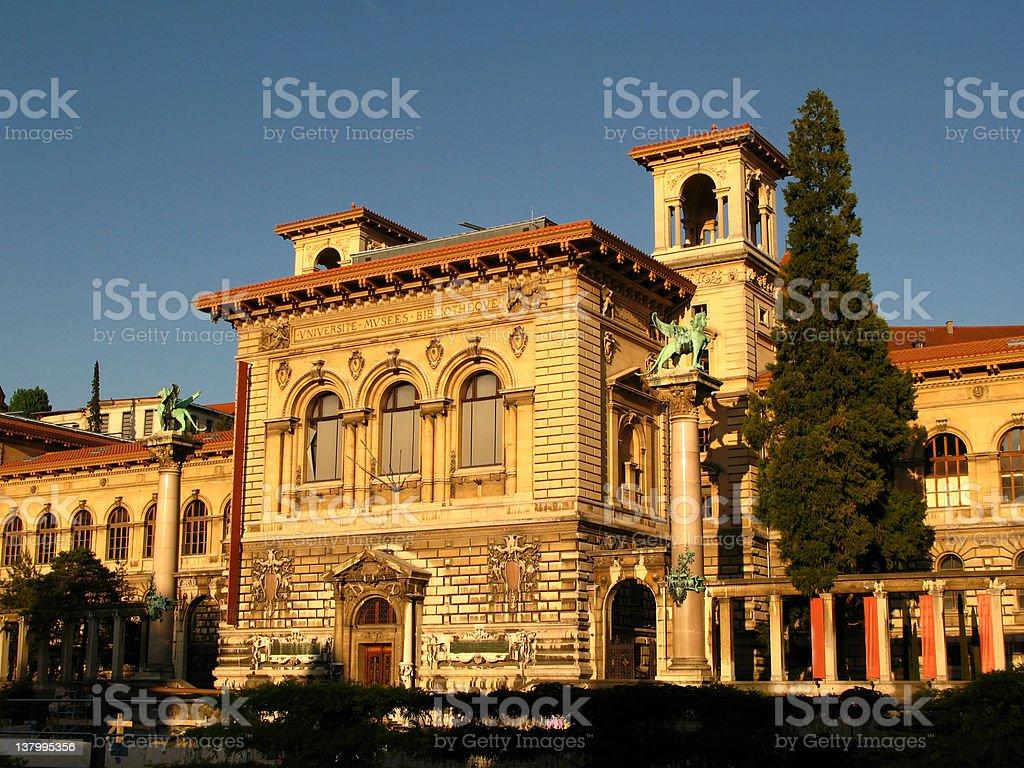 Rumine Palace, Lausanne, Switzerland royalty-free stock photo