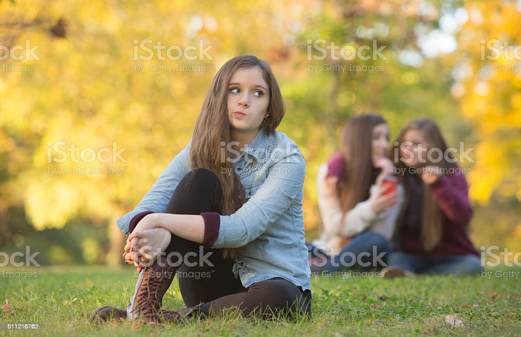 Rumors About Teen Girl stock photo