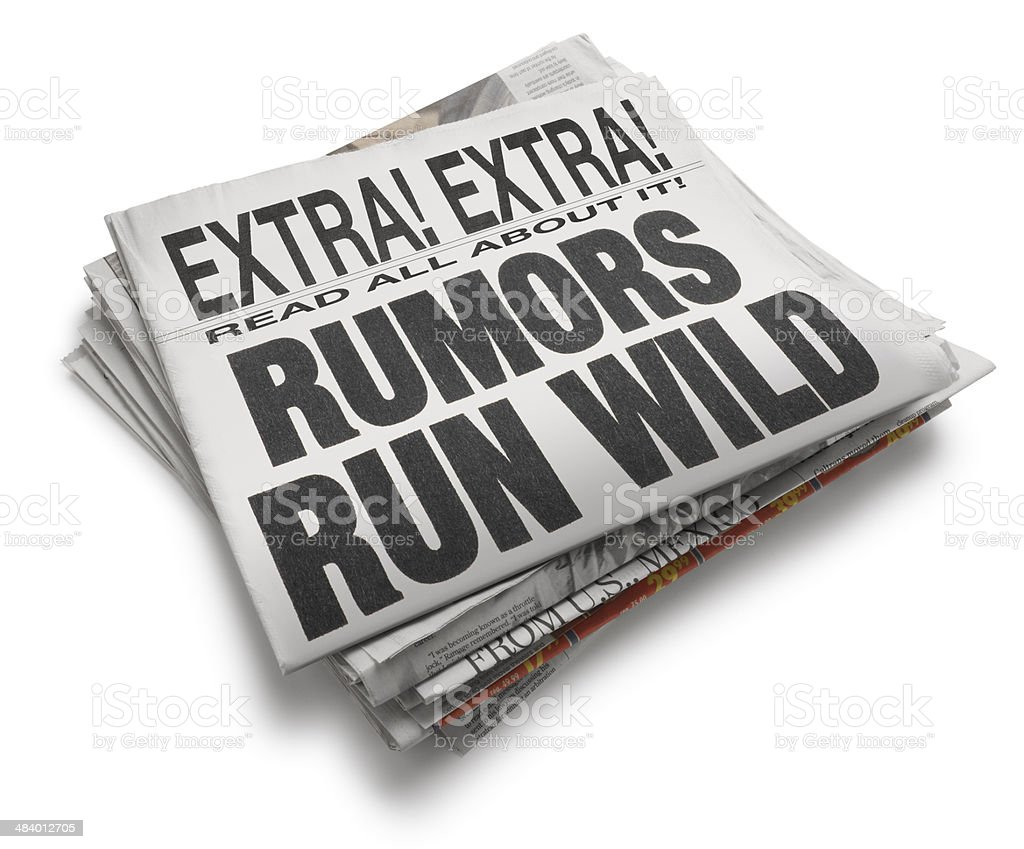 Rumors Run Wild stock photo