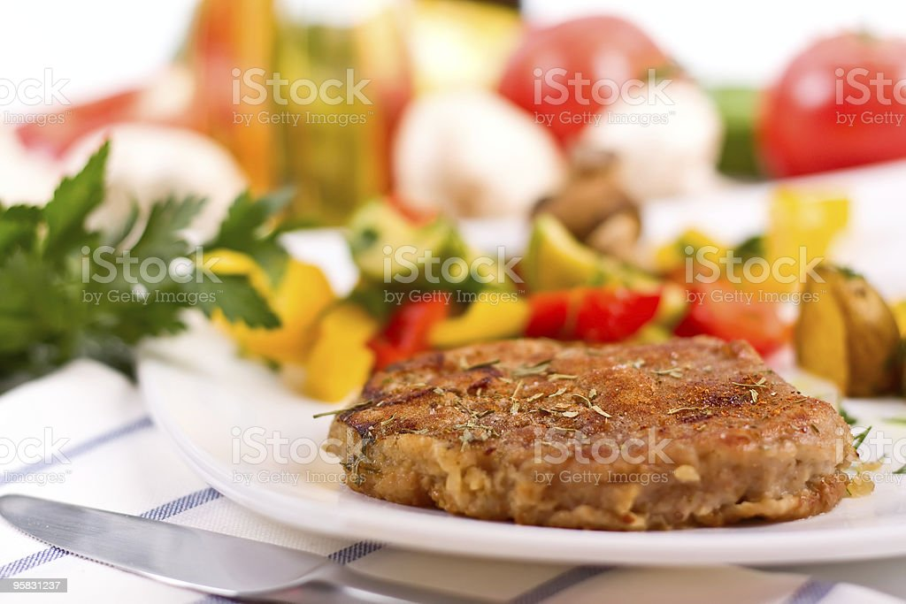 rump steak with vegetables royalty-free stock photo