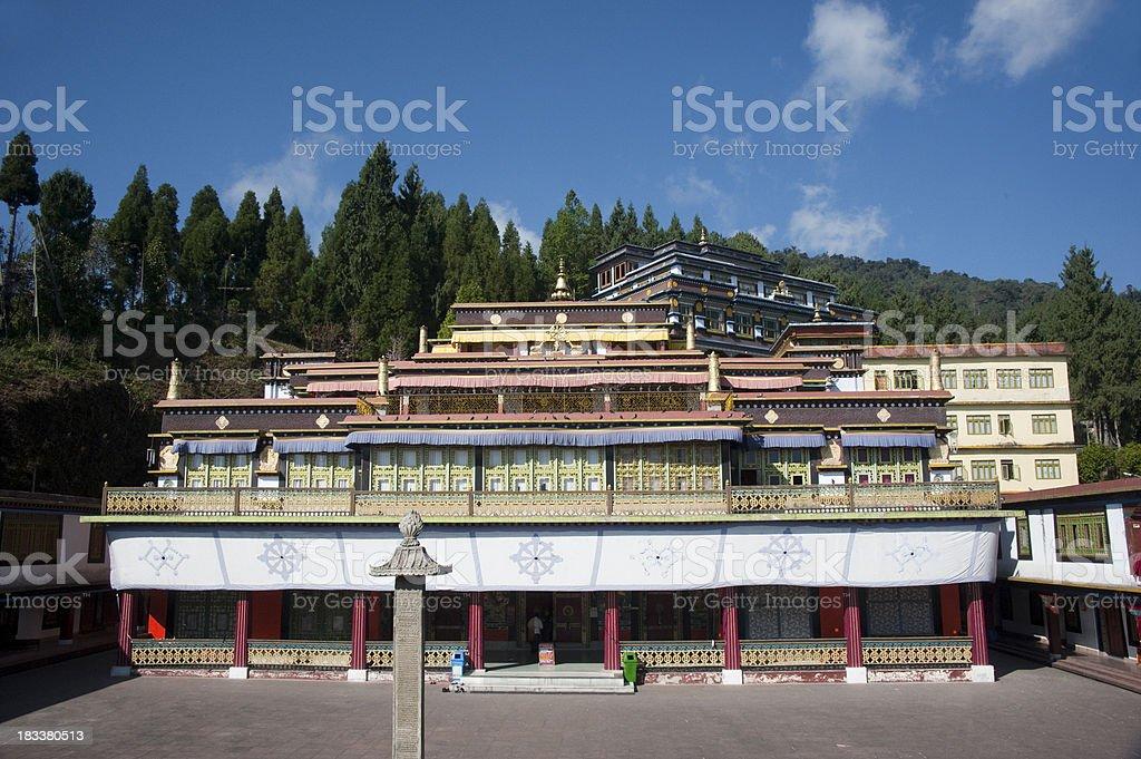 Rumtek Monastery stock photo
