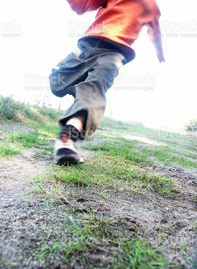 Run Boy .....! royalty-free stock photo
