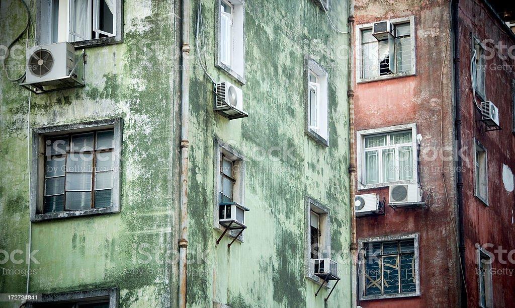 Run Down Apartments royalty-free stock photo