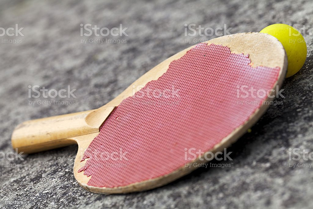 Run Down Ping Pong Raquet royalty-free stock photo