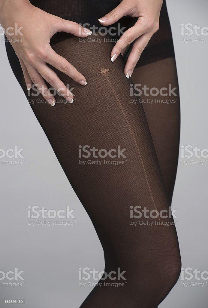 Run in Stockings. stock photo