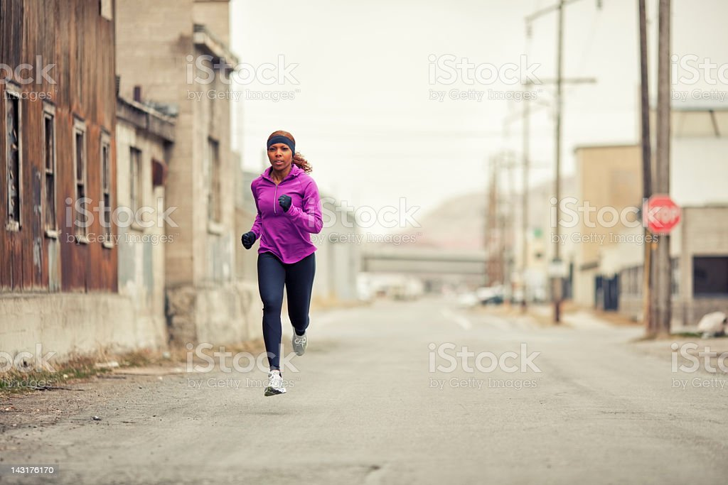 Run in the City stock photo